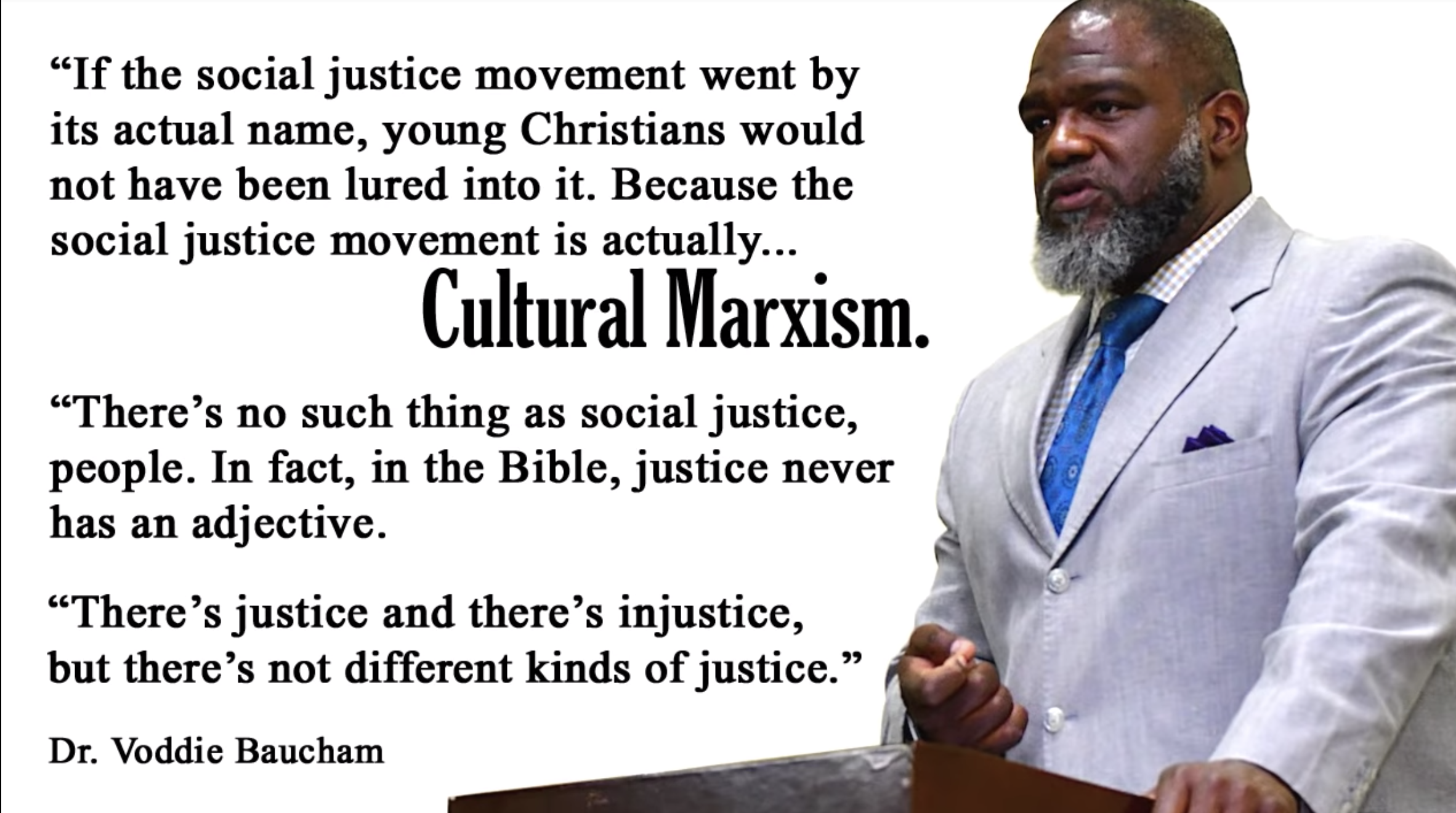 Voddie Baucham: What Does the Bible Say About Social Justice?   Bible  Thumping Wingnut Network